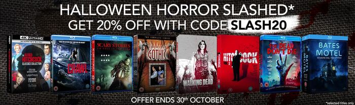 20% off Selected Horror DVD and Blu-Ray Orders