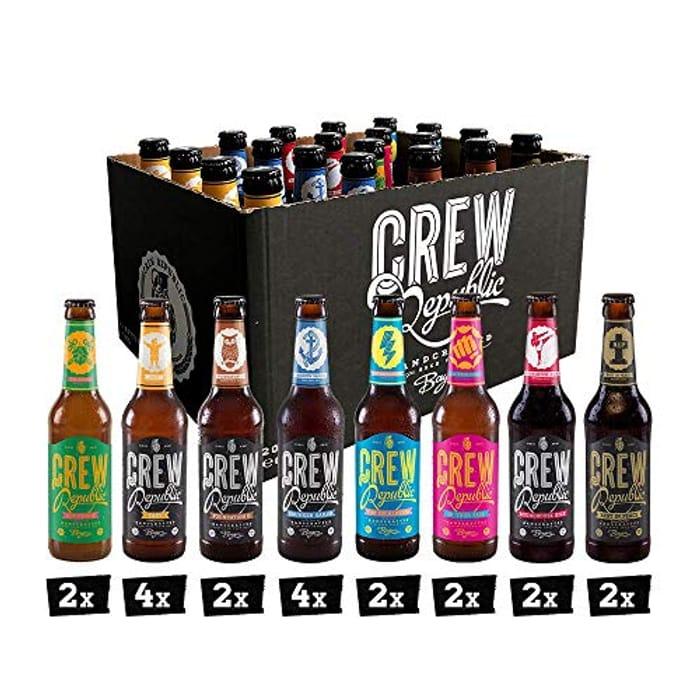 CREW Republic Craft Beer Mix Box, Craft Beer Variety Set