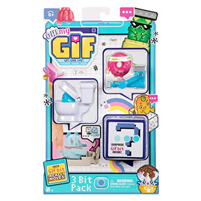OH! MY GIF 3 Bit Toy Pack - Doughby & Flippy