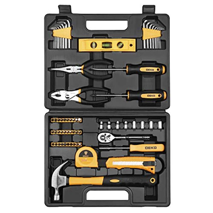 DEAL STACK - DEKO 65 Piece Household Tool Set + £5 Coupon