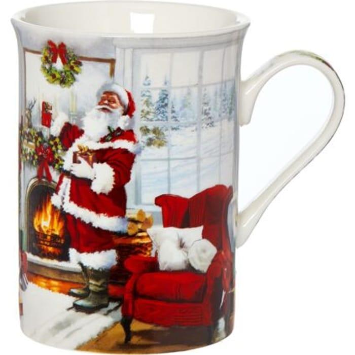 THE LEONARDO COLLECTION Multicoloured Santa Scene Ceramic Mug 10x11cm