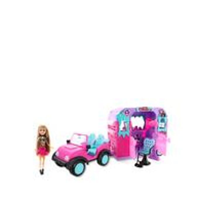 Sparkle Girlz Jeep with Doll and Beauty Salon