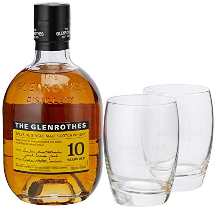 The Glenrothes 10 Year Old Speyside Single Malt Scotch Whisky Gift Pack, 70 Cl