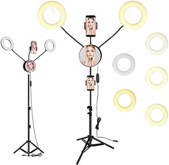 Collect Promotion Dual LED Ring Light with Tripod Stand,