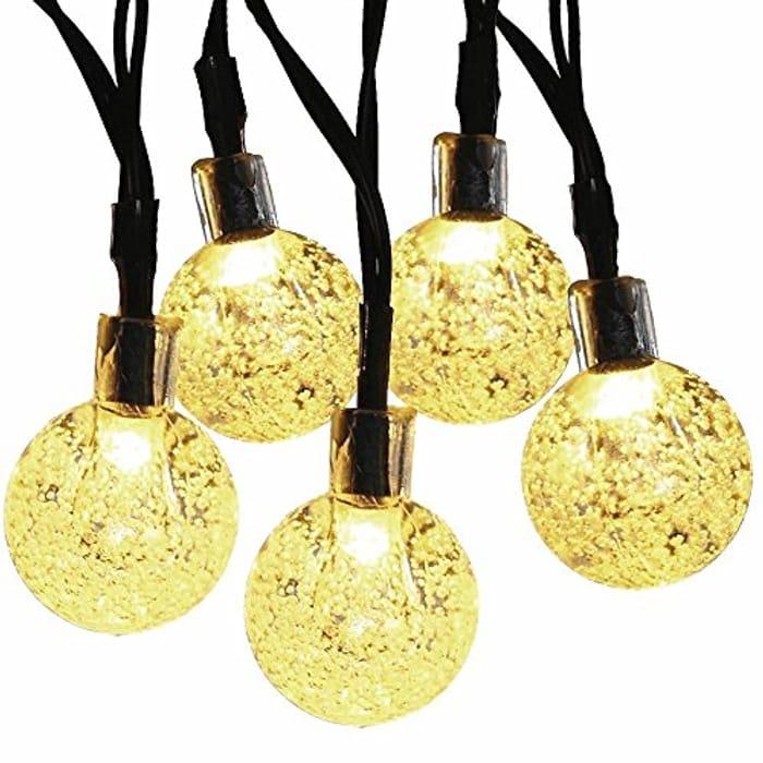 Lightning Deal! MagicLux Tech Solar String Lights 30 LED 21Ft