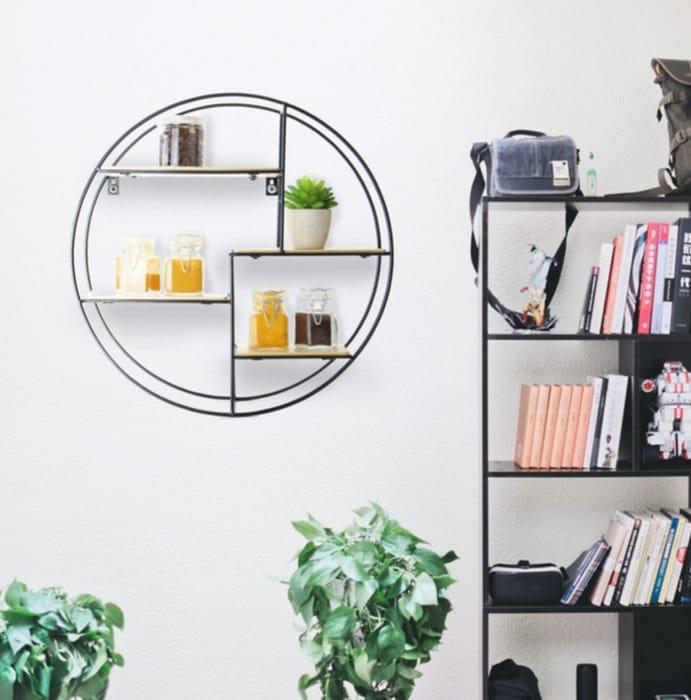 Floating Circle Shelf | M&W 4 Tier