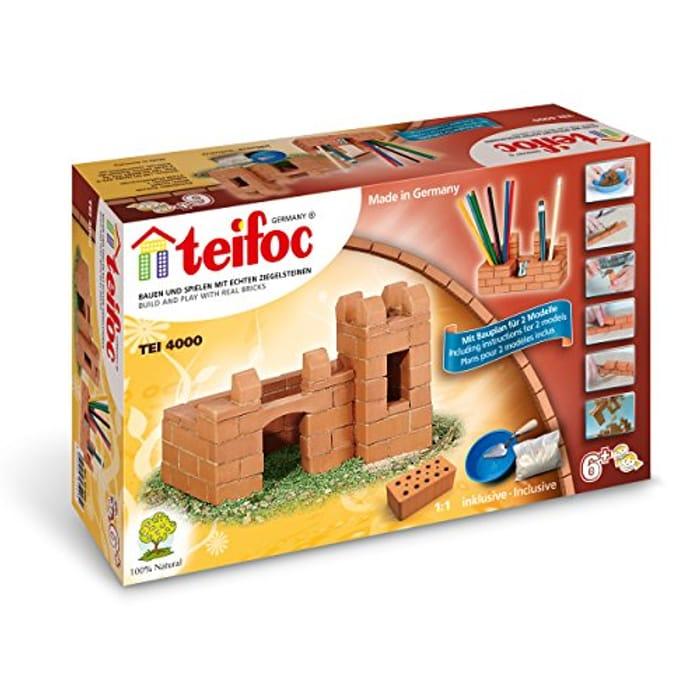 Teifoc 4000 - Medium Castle - Build with Real Bricks & Cement - Only £17.99!