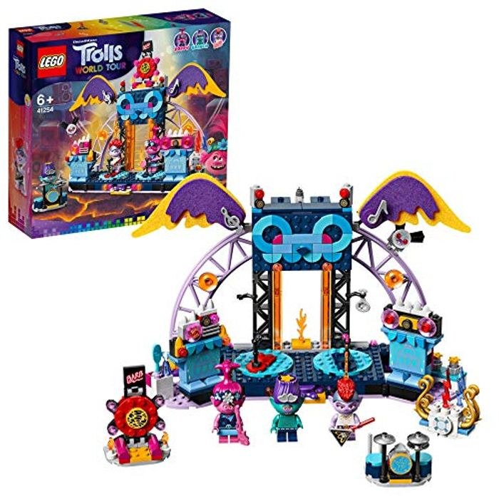 LEGO 41254 Trolls World Tour Volcano Rock City Concert Playset