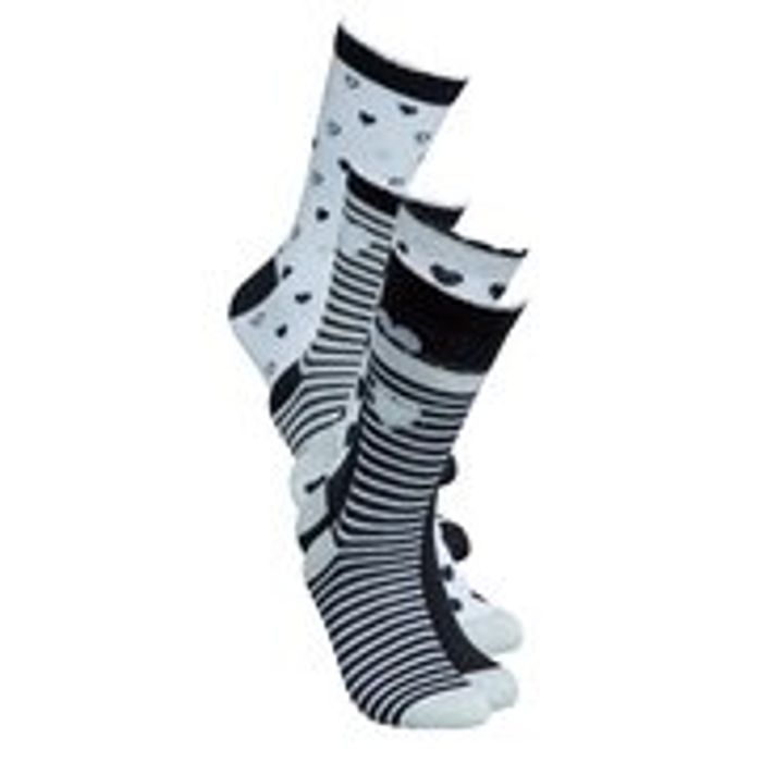 Pack of 5 Monochrome Socks