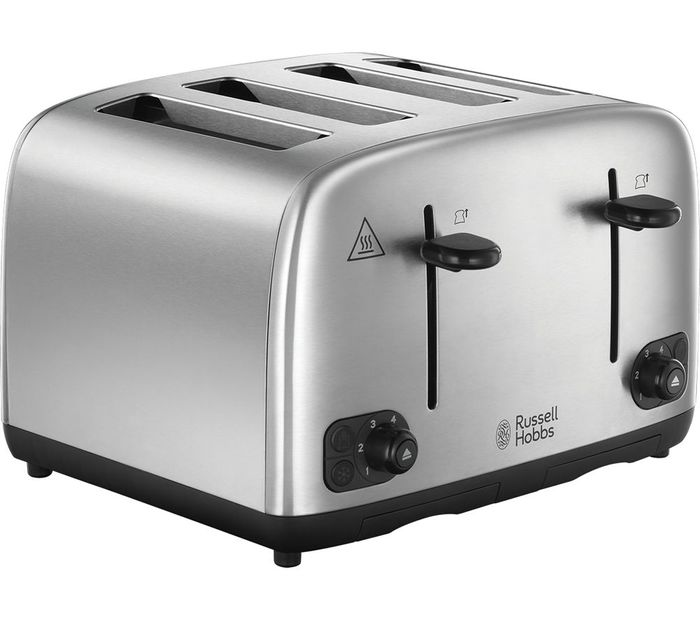 RUSSELL HOBBS 24094 4-Slice Toaster - Stainless Steel £20.99 Delivered with Code
