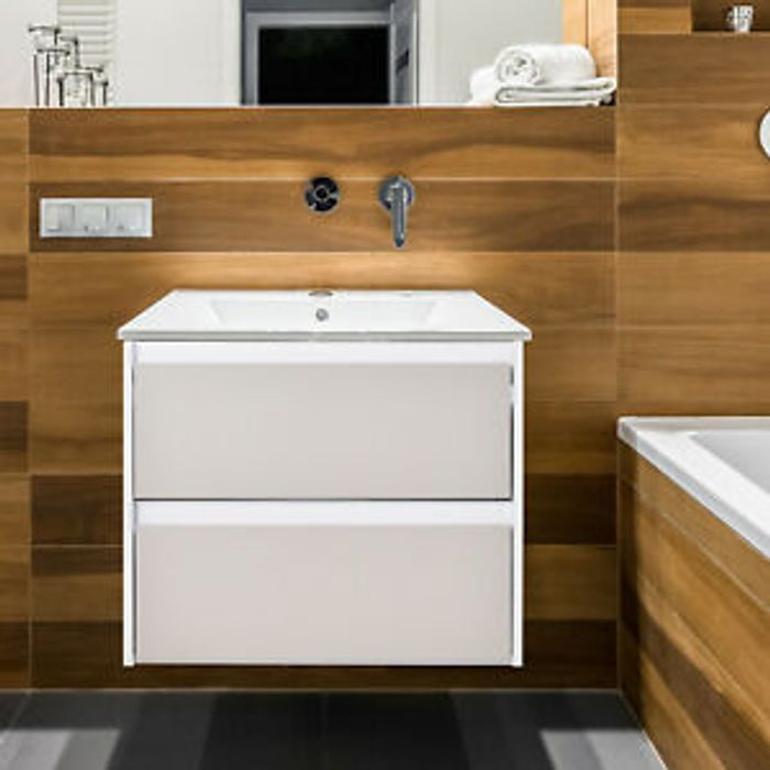 Kleankin 2 Drawer Hanging Bathroom Cabinet