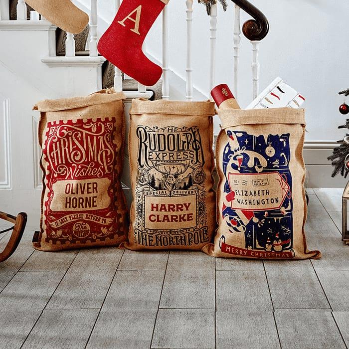 Best Price! Personalised Christmas Sacks £15 at He Handmade Christmas Co