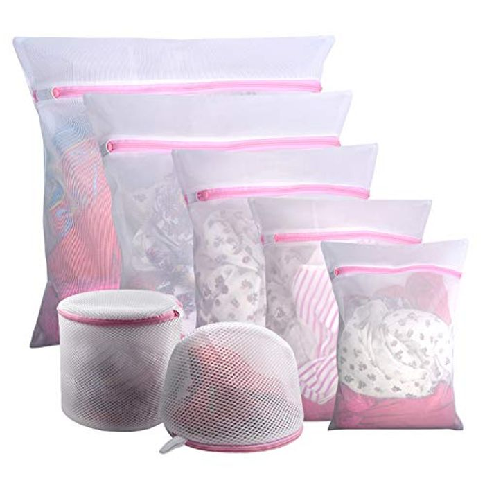 7PCS Mesh Laundry Bags, Reuse Durable Washing Machine Bag