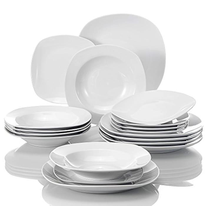 DEAL STACK - MALACASA, Series Elisa, 18-Piece Dinner Set + 5% Coupon