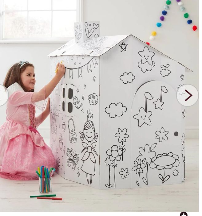 Colour in Cardboard Play House