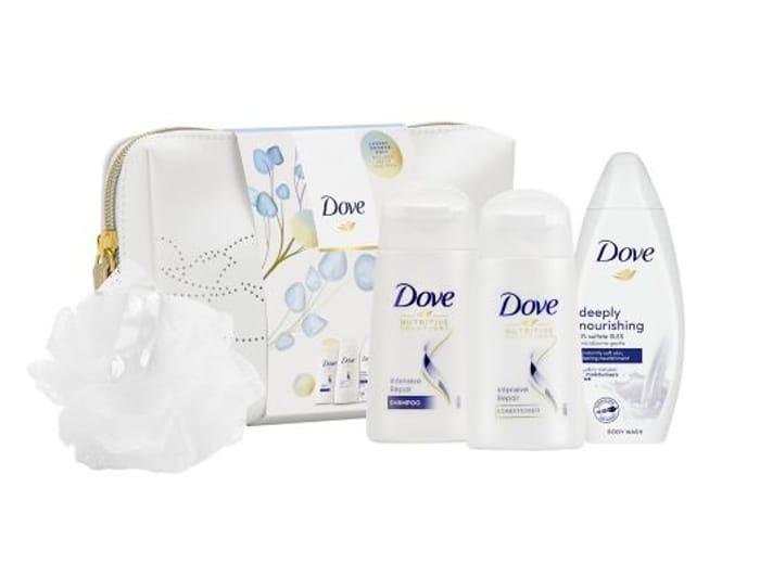 1/2 Price - Dove Nourishing Secrets Rituals Beauty Bag & Puff Gift Set