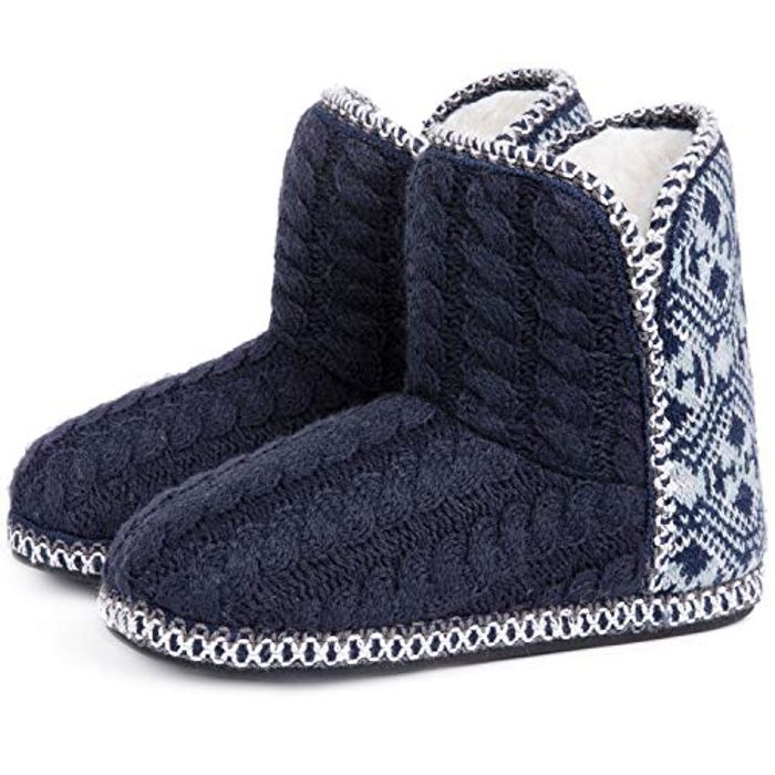 RockDove Women's Cable Knit Indoor Slippers