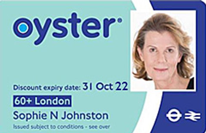 Free 60+ London Oyster Photocard