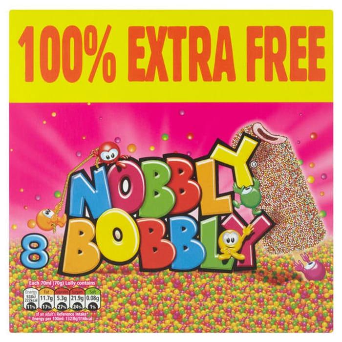 Nobbly Bobbly Ice Cream Lolly 4 + 100% Extra Free ( 8 Pack )