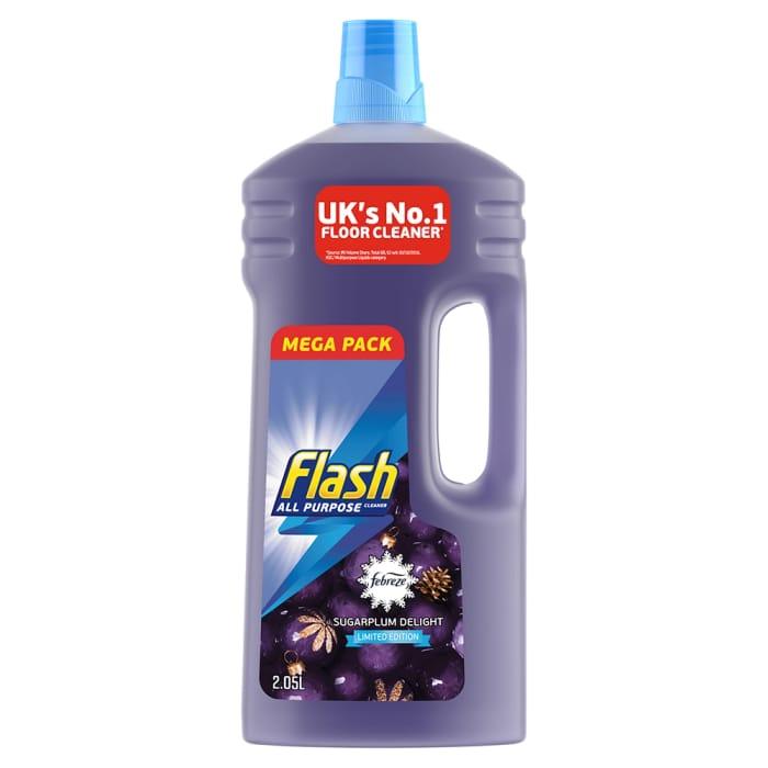 4 X 2.05L Flash Christmas Limited Edition Liquid Sugarplum Delight