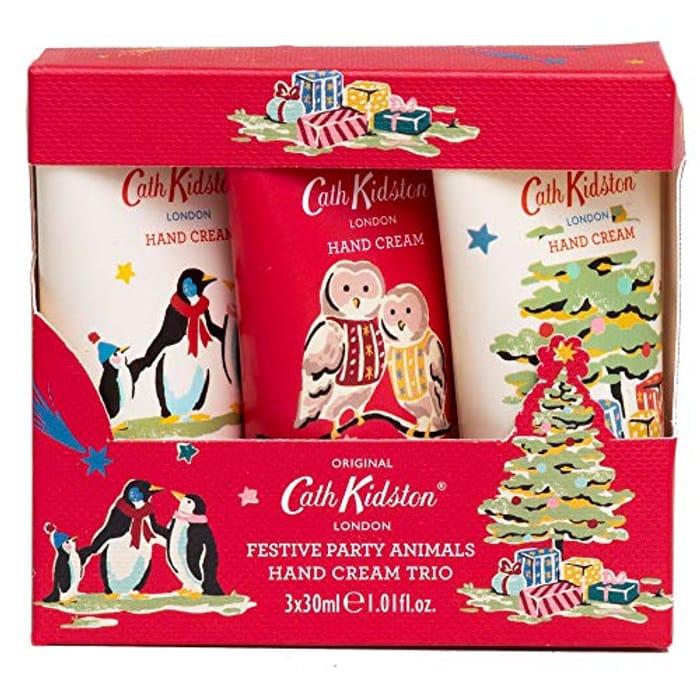 Cath Kidston Festive Party Animals Everyday Hand Cream Trio Gift Set