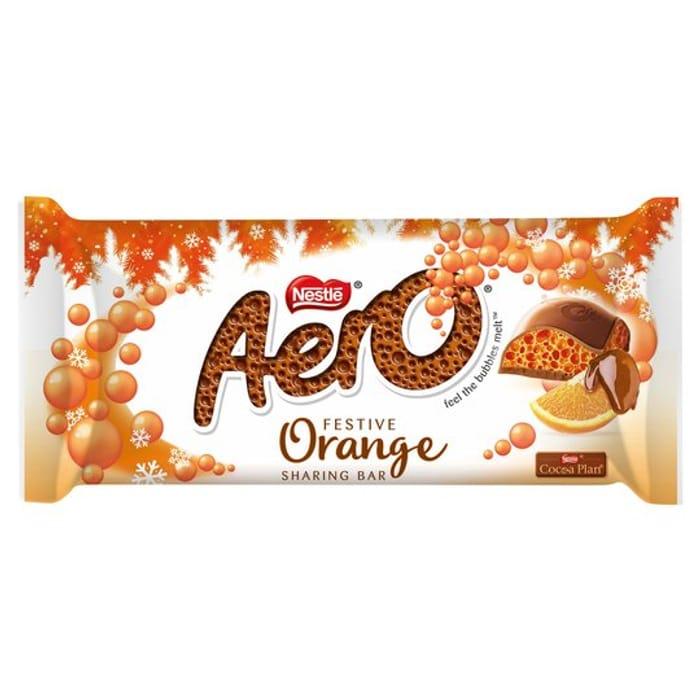 Aero Chocolate Orange Christmas Chocolate Bar 90g