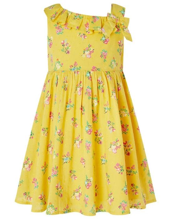 Baby Grace Floral Dress in Organic Cotton Yellow