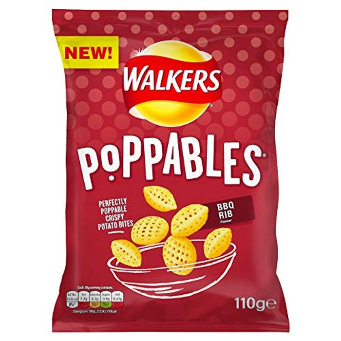 Walkers Crisps Poppables BBQ Rib Snacks, 110g on Sale From £1.99 to £0.99!
