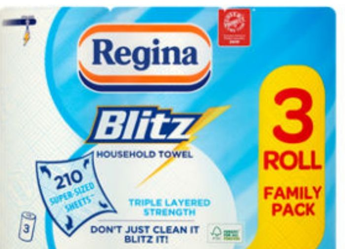 Regina Blitz XL Kitchen Roll 33%off at Asda