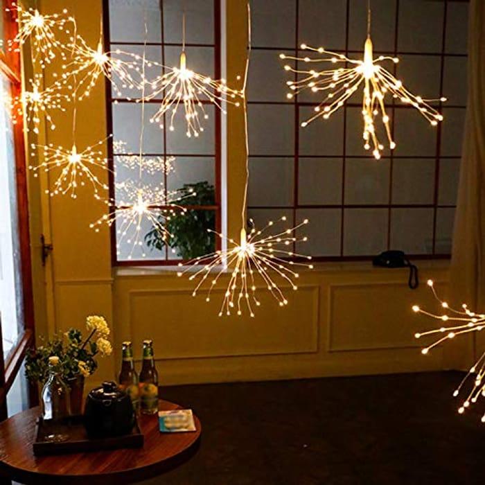 60% off Firework Shaped Warm White Fairy Lights