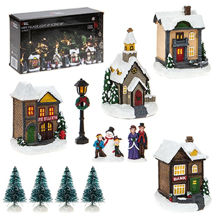 Light up Led Christmas Village Scene