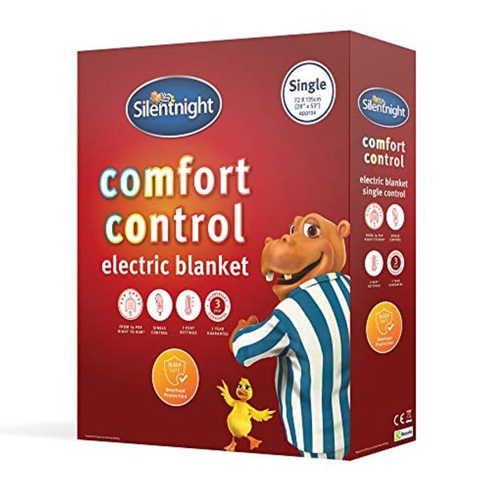 Silentnight Comfort Control Electric Blanket - Only £17.99!