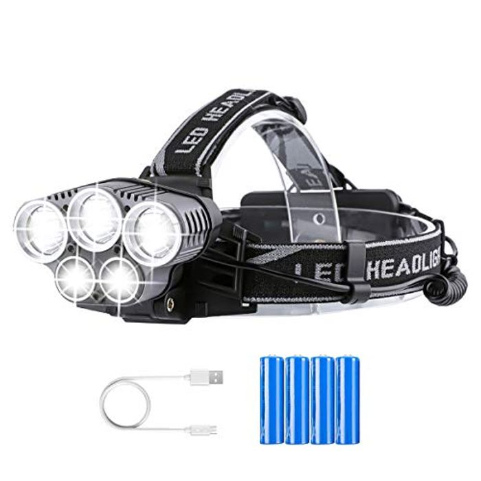 20% off Rechargeable Head Torch