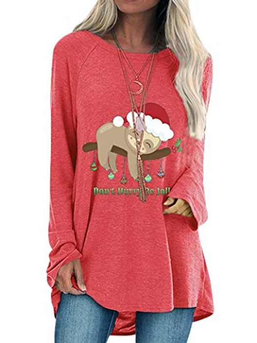 Dont Hurry Be Jolly Sloth Top Available in 3 Colours