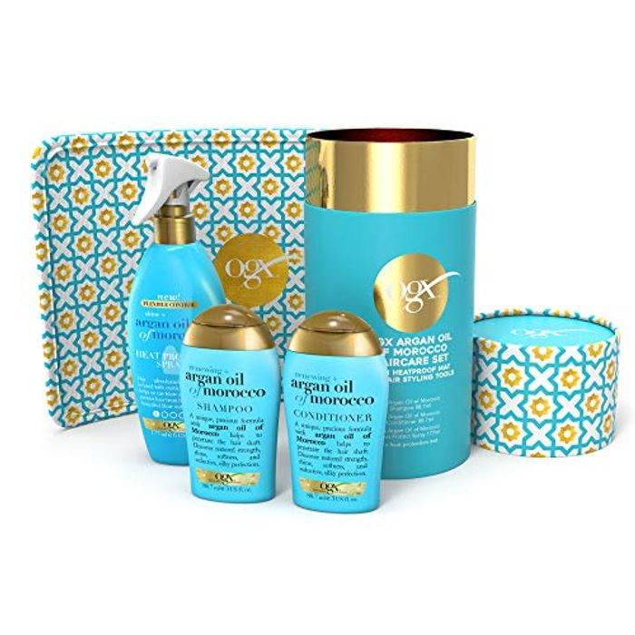 Hair Care Gift Set with Heat Protection Spray and Heat Resistant Mat