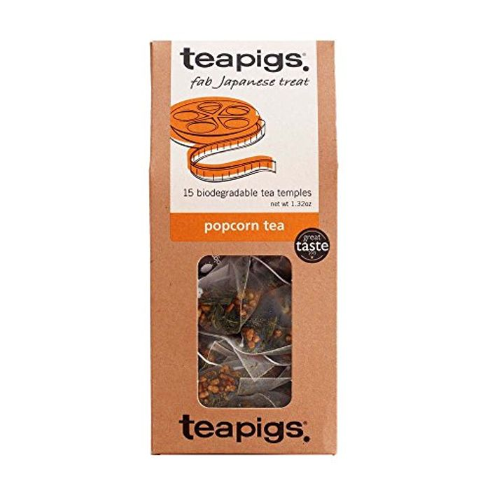 Teapigs Popcorn Tea Bags Made with Whole Leaves (1 Pack of 15 Tea Bags)