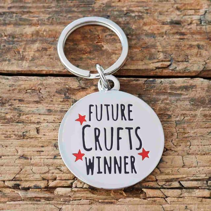 """Sweet William """"Future Crufts Winner"""" Dog Identity Tag"""