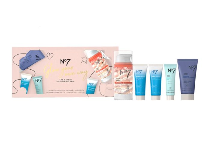 No7 Glow Your Own Way the 5 STEPS to GLOWING SKIN Gift Set Buy 3 Sets Only £32