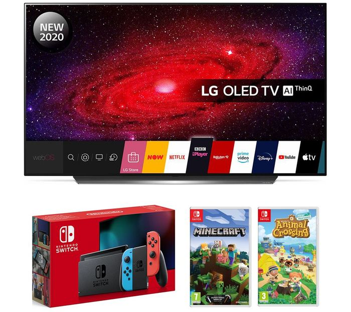LG 55CX6 OLED TV with Nintendo Switch, Minecraft & Animal Crossing: New Horizons