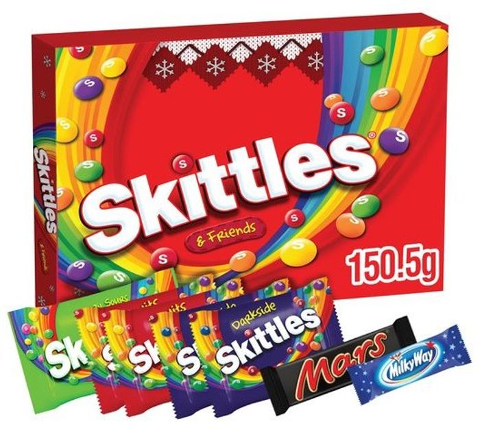 Skittles Sweets Christmas Selection Box 150.5G - Half Price
