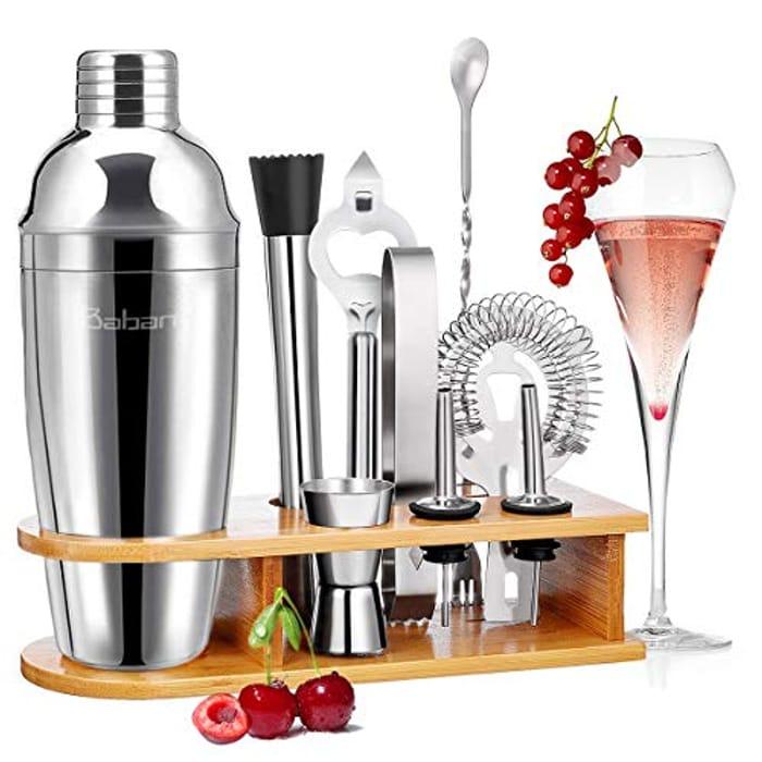 Baban Cocktail Shaker Set Cocktail Making Set 9+1pcs