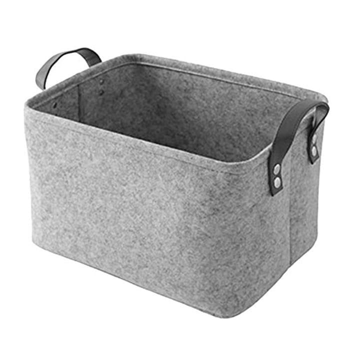 Large Wool Felt Foldable Storage Box