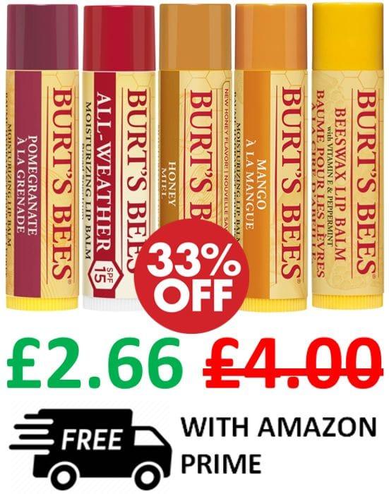 Best Price! Burt's Bees 100% Natural Moisturising Lip Balm
