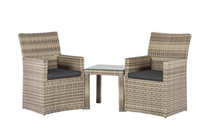 Backyard Furniture Palma Rattan Wicker Balcony Set