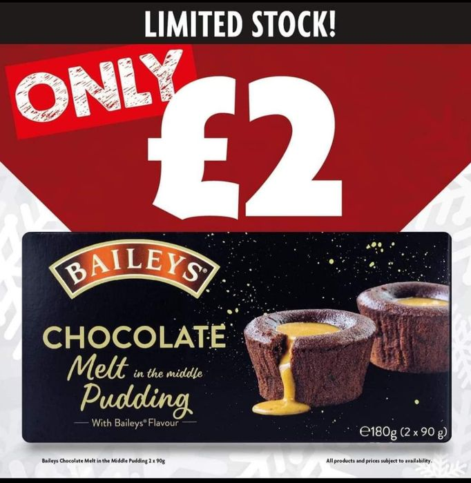 Baileys Chocolate Melt in the Middle Pudding - Limited Stock