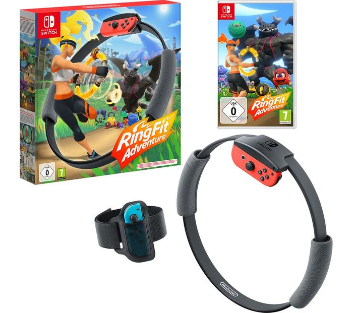 Nintendo Switch Ring Fit Adventure With Ring Con & Leg Strap - £59.99 With Code