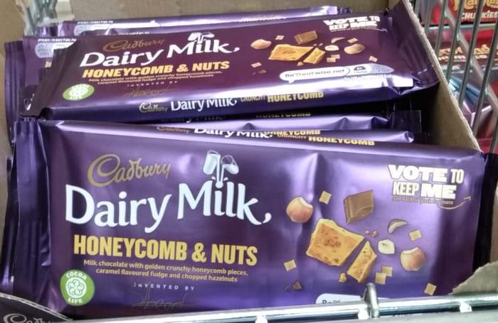 Cadbury Dairy Milk Crunchy Honeycomb & Nuts Bar 105g