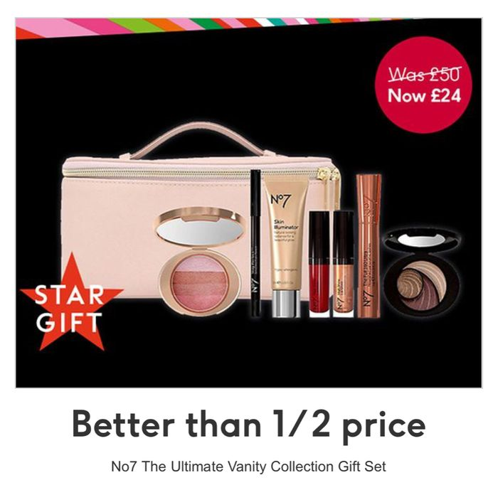 No7 Cosmetic Stars the ULTIMATE VANITY CASE Christmas Gift Set ,Online & InStore