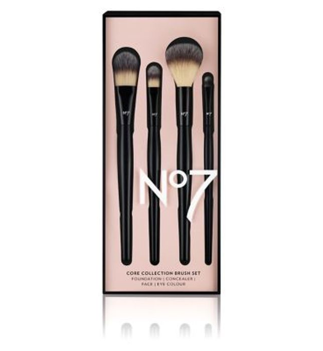 No7 Core Collection Brush Set, Buy 1 Get 1 Half Price : BLACK Friday Offer