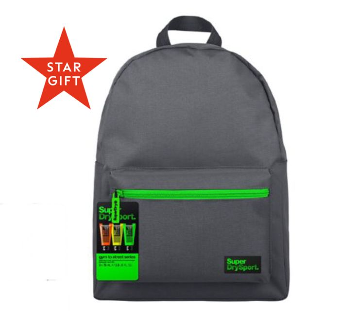 CHEAP! NEW STAR GIFT: Superdry Sport Gym to Street -Backpack & Body Wash Set